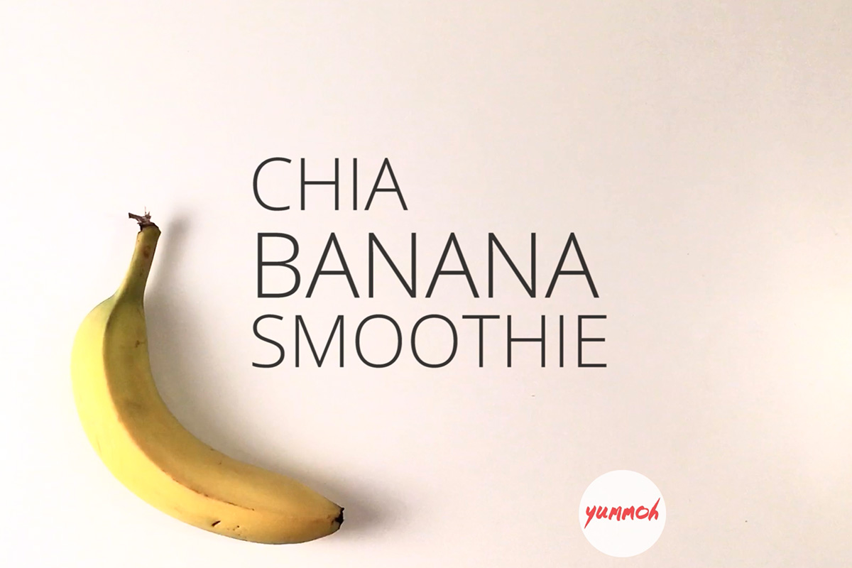 Chia Banana Boost Smoothie Step 1