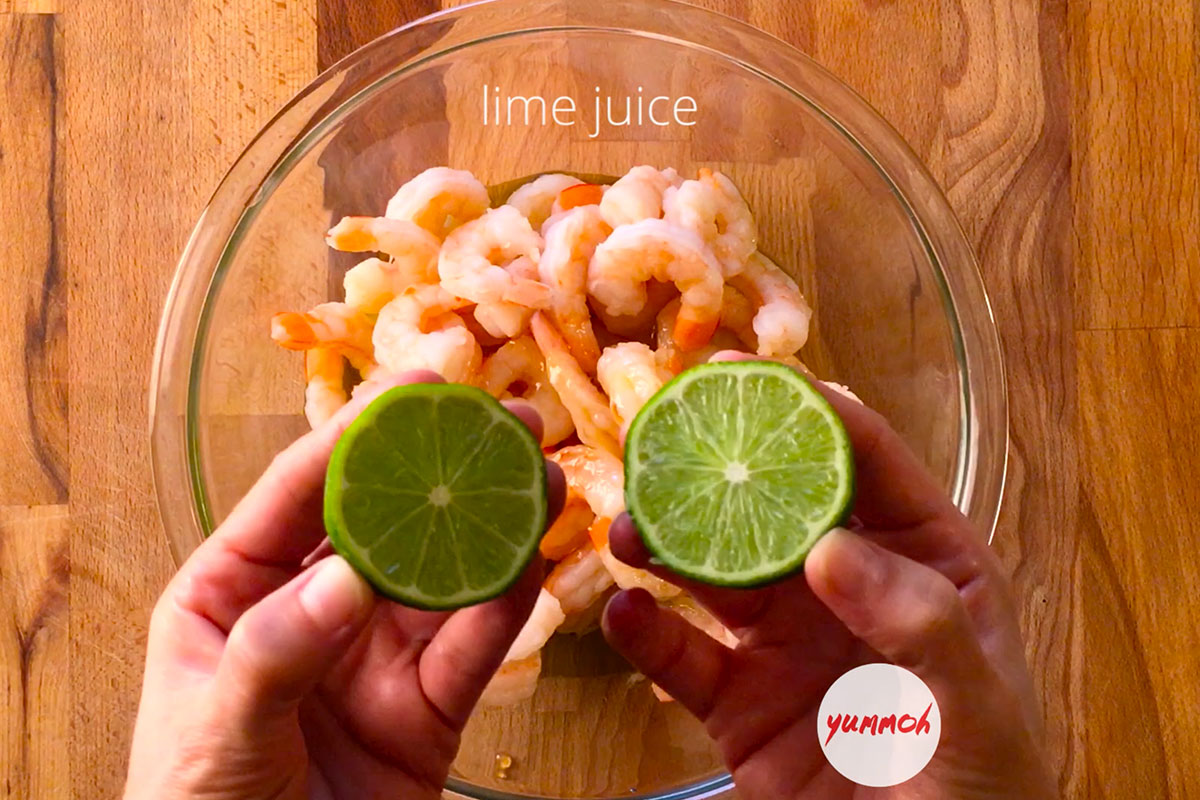 Honey Lime Shrimp Recipe Step 1